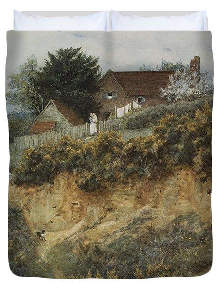 At Sandhills Witley Duvet Cover by Helen Allingham