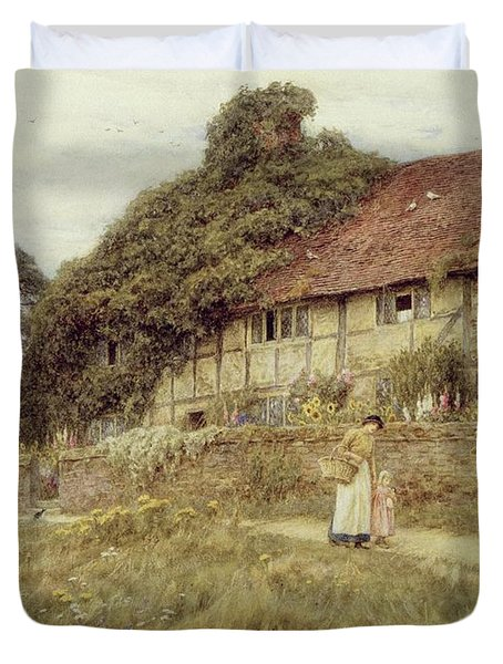At Stedham Near Midhurst Duvet Cover by Helen Allingham