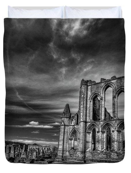 At The Dreamscape Ruins Duvet Cover by Evelina Kremsdorf
