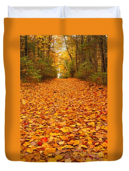 At The End Of The Road Duvet Cover by Alana Ranney