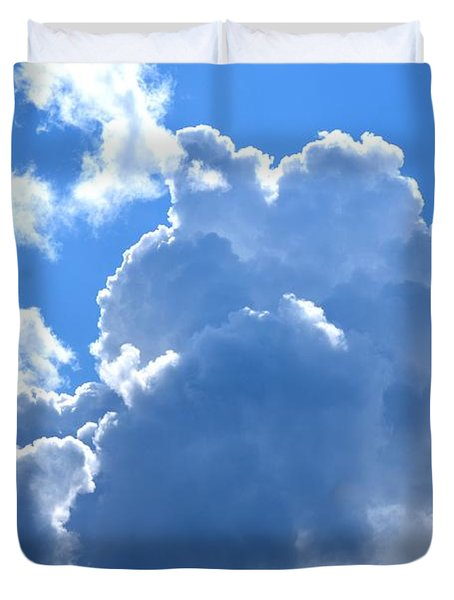 At The Foot Of God Duvet Cover by Maria Urso