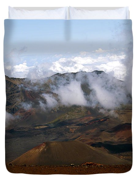 At The Rim Of The Crater Duvet Cover