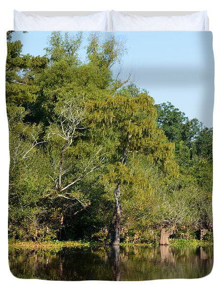 Atchafalaya Basin 7 Duvet Cover by Maggy Marsh