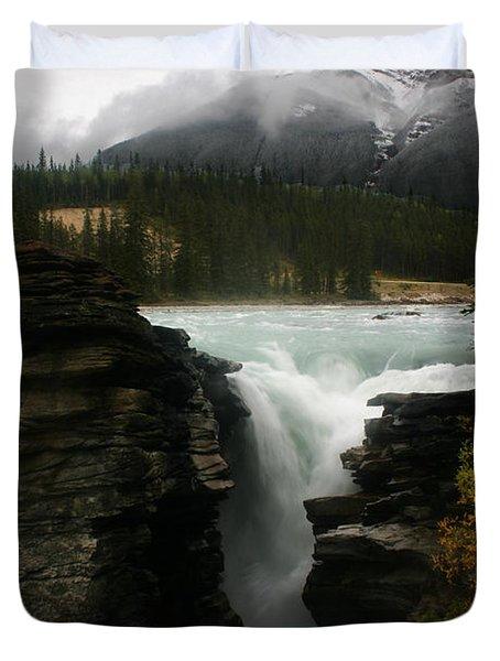 Athabasca Falls Jasper National Park Duvet Cover