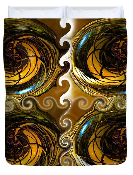 Atlantis The Lost Works Number One Duvet Cover by David Lee Thompson