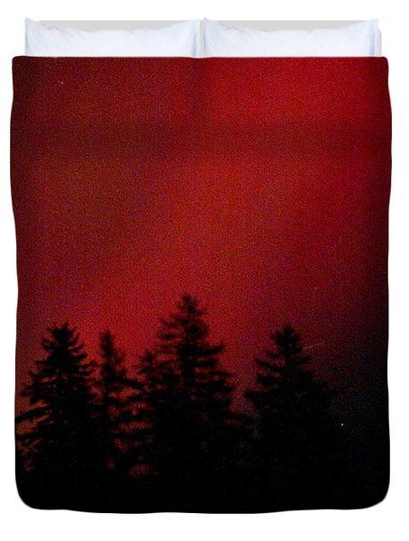 Duvet Cover featuring the photograph Aurora 02 by Brent L Ander