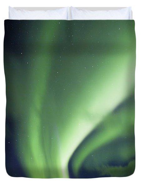 Aurora Borealis, Tombstone Territorial Duvet Cover by John Sylvester