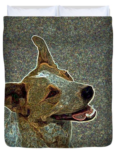Australian Cattle Dog Mix Duvet Cover by One Rude Dawg Orcutt