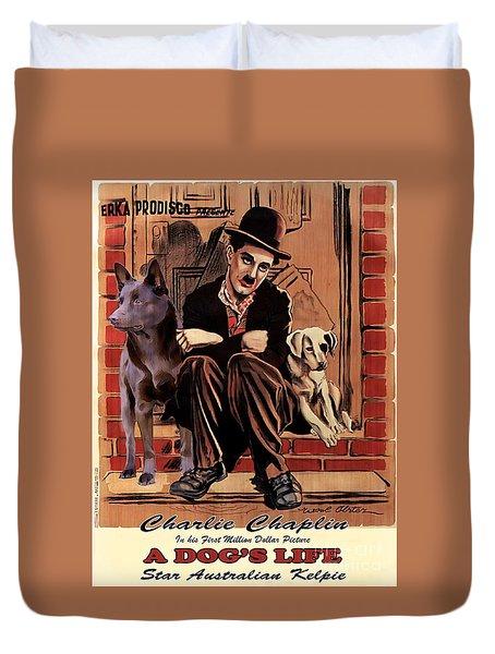 Australian Kelpie - A Dogs Life Movie Poster Duvet Cover