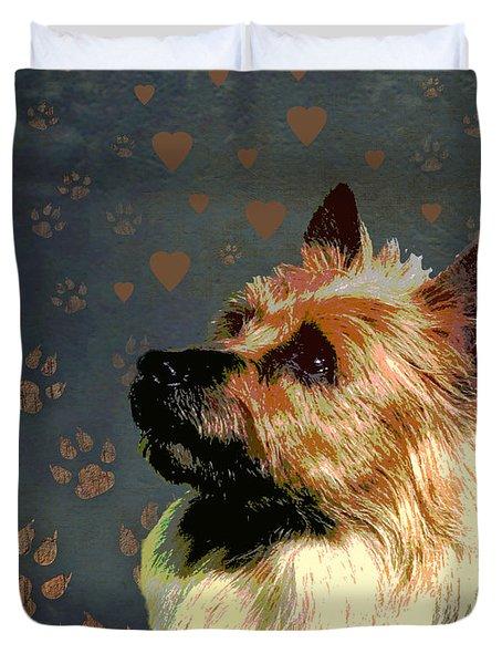 Australian Terrier Duvet Cover by One Rude Dawg Orcutt