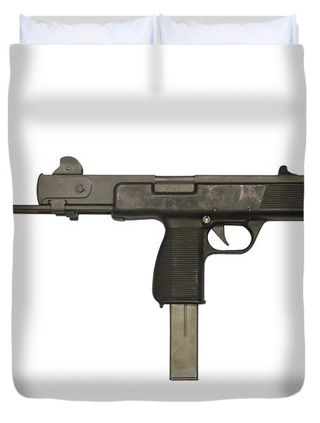 Austrian 9mm Steyr Mpi 81 Submachine Duvet Cover by Andrew Chittock