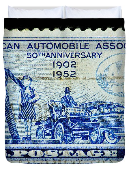 Duvet Cover featuring the photograph Automobile Association Of America by Andy Prendy