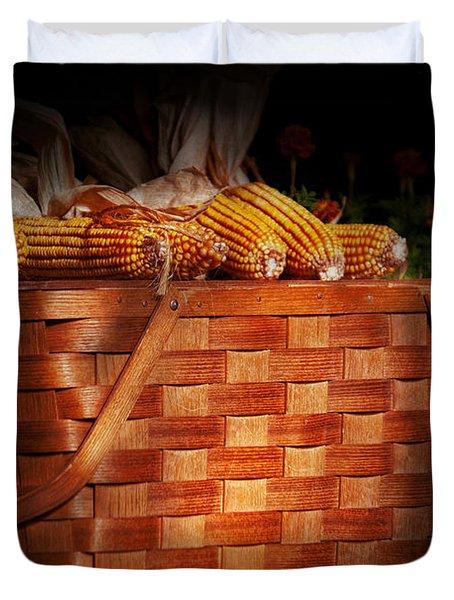 Autumn - Gourd - Fresh Corn Duvet Cover by Mike Savad