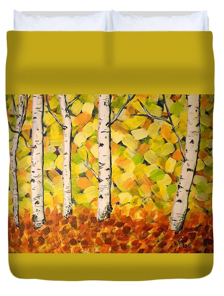 Autumn Aspens Duvet Cover