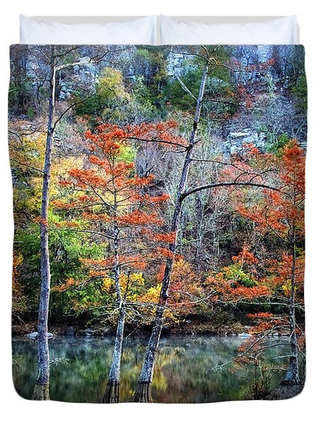 Autumn At Beaver's Bend Duvet Cover by Tamyra Ayles