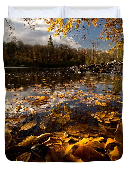 Autumn At Ragged Falls Duvet Cover