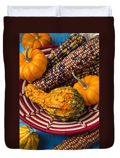 Autumn Basket  Duvet Cover by Garry Gay