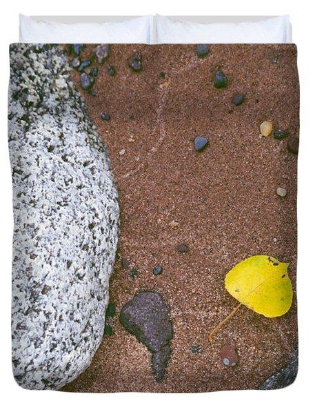 Autumn Beach Duvet Cover