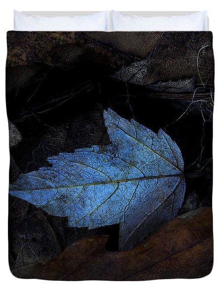 Autumn Blue Duvet Cover by Ron Jones