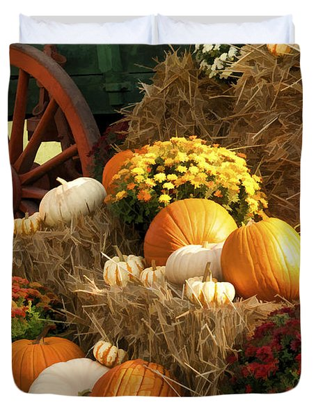 Autumn Bounty Duvet Cover by Kathy Clark