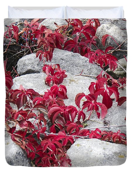Autumn Color Is Red Duvet Cover