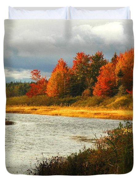 Duvet Cover featuring the photograph Autumn Colors by Alana Ranney