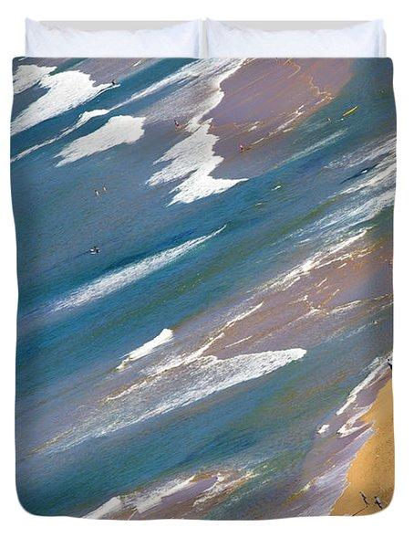 Autumn Day At Palm Beach Sydney Duvet Cover by Avalon Fine Art Photography