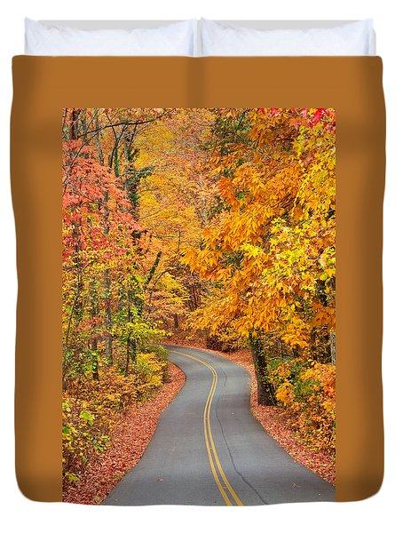 Autumn Drive Signal Mountain Duvet Cover
