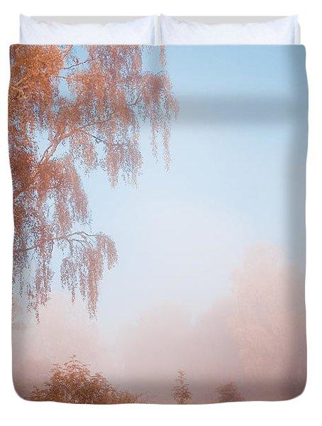Autumn Fairytale. Misty Roads Of Scotland  Duvet Cover by Jenny Rainbow