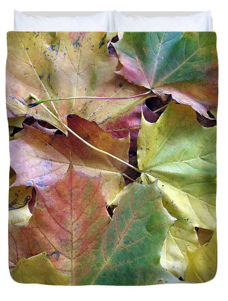 Autumn Foliage Duvet Cover by Ausra Huntington nee Paulauskaite