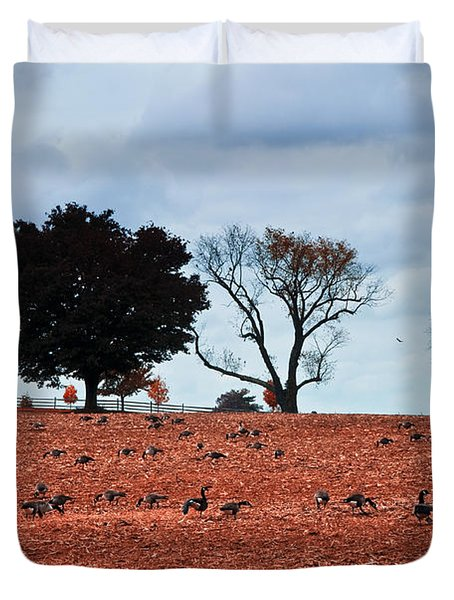 Autumn Geese Duvet Cover by Bill Cannon