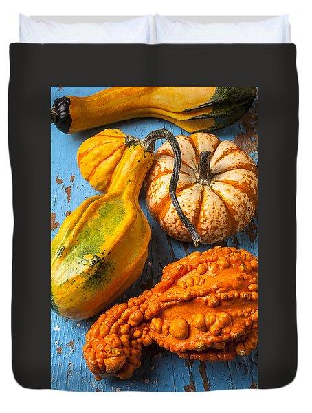 Autumn Gourds Still Life Duvet Cover