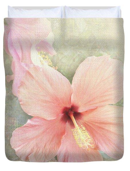 Autumn Hibiscus Duvet Cover