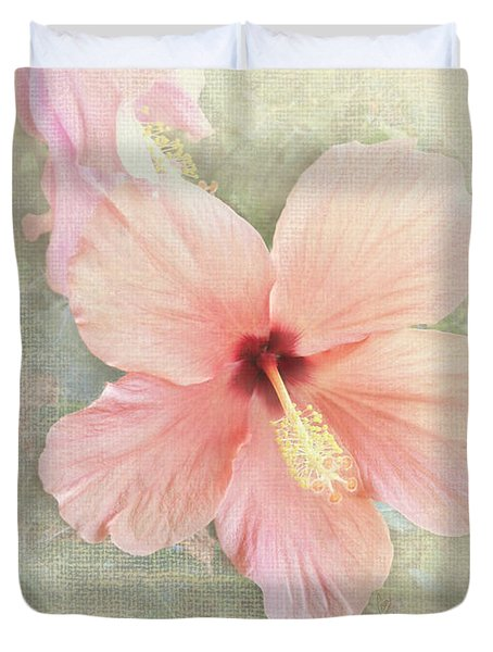 Autumn Hibiscus Duvet Cover