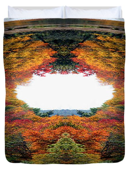 Autumn In Abstract Duvet Cover