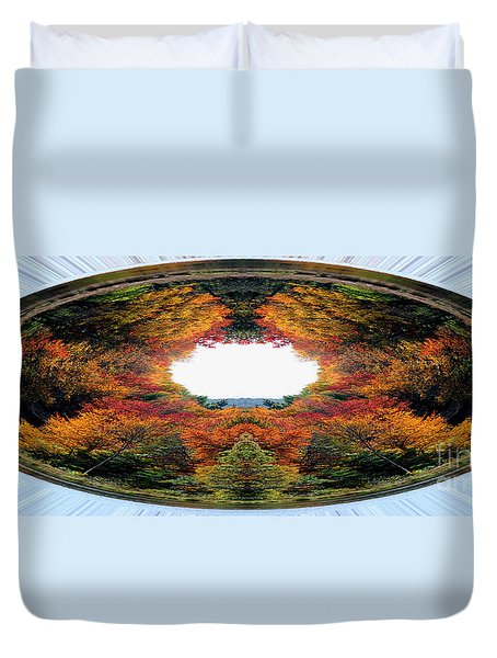 Autumn In Abstract Duvet Cover by Smilin Eyes  Treasures