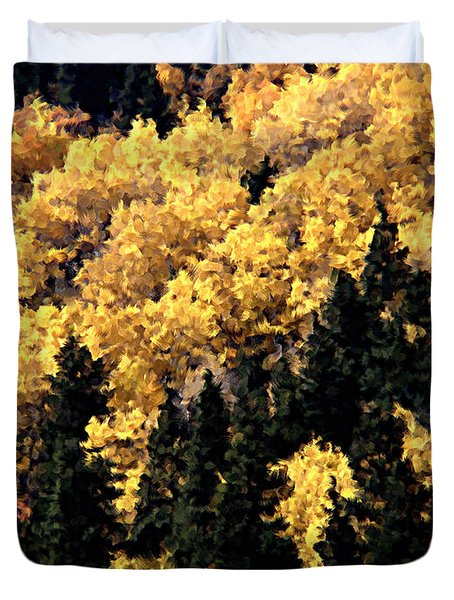 Autumn In Colorado Painting Duvet Cover by Donna Greene