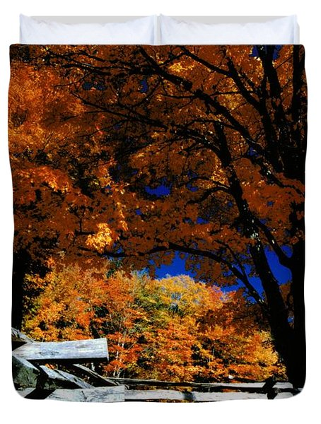 Autumn In Holderness Duvet Cover by Rick Frost