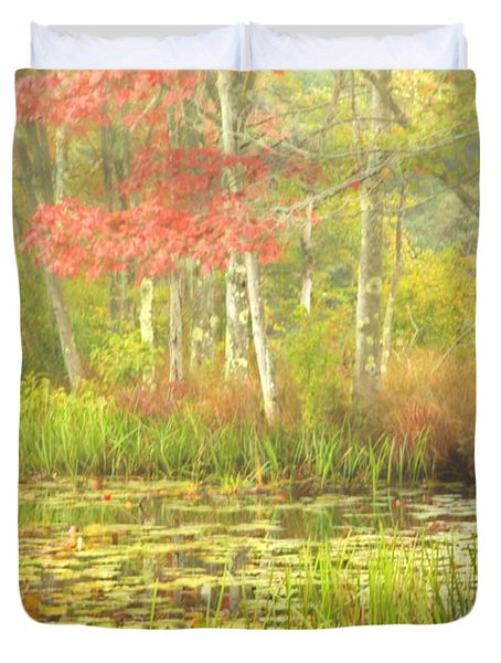 Autumn Is Here Duvet Cover by Karol Livote