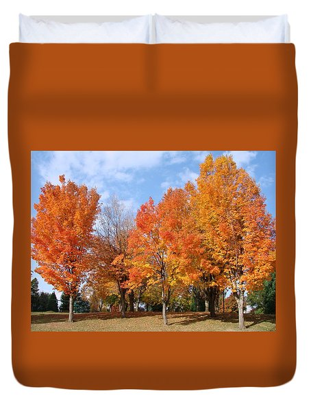 Autumn Leaves Duvet Cover by Athena Mckinzie