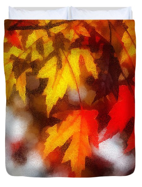 Autumn Leaves Duvet Cover by Billie-Jo Miller
