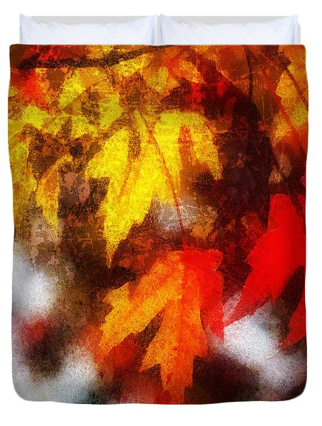 Autumn Leaves II Duvet Cover by Billie-Jo Miller