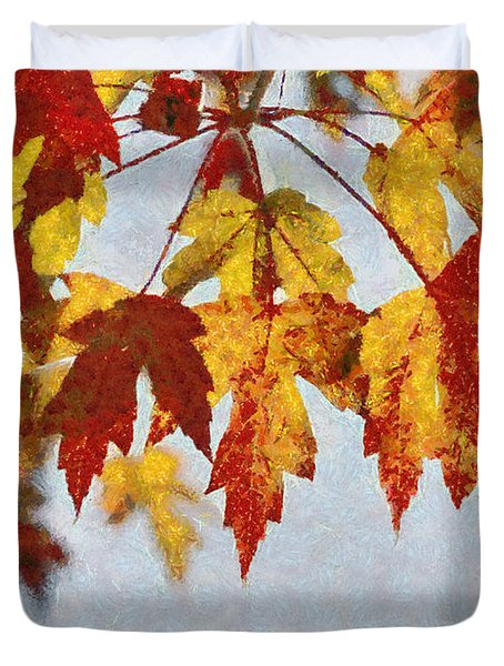 Autumn Leaves IIi Duvet Cover by Billie-Jo Miller