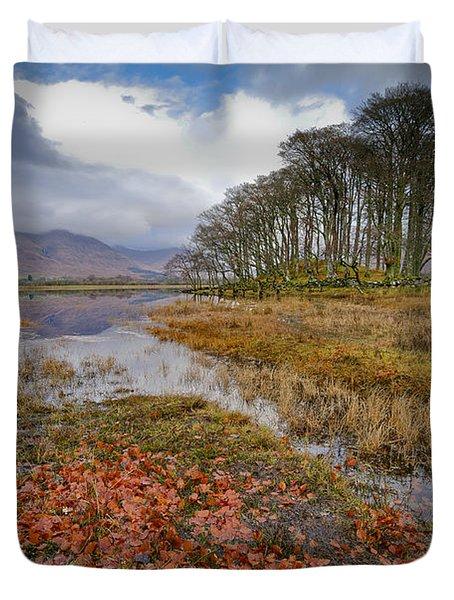 Autumn Leaves Loch Awe Duvet Cover
