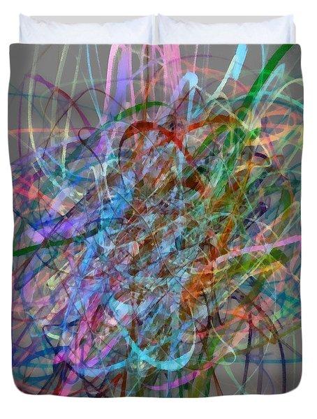 Autumn Likes Lines Duvet Cover by Michelle Calkins