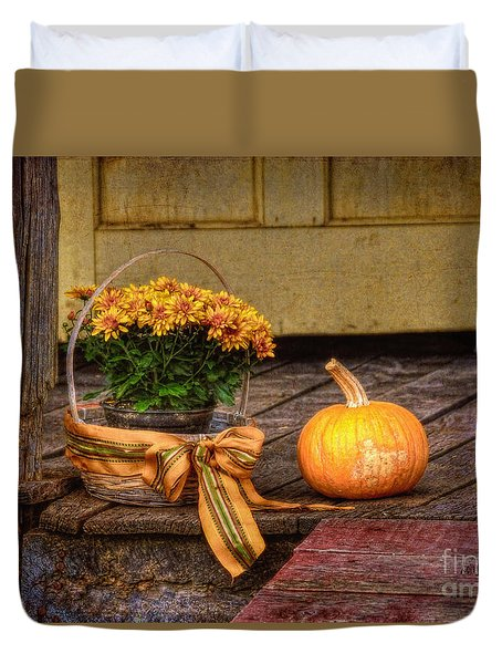 Autumn Duvet Cover by Lois Bryan
