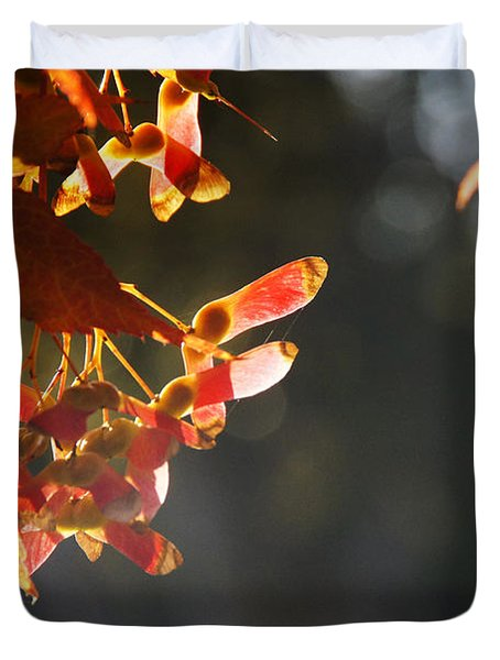 Autumn Maple Duvet Cover by Mick Anderson
