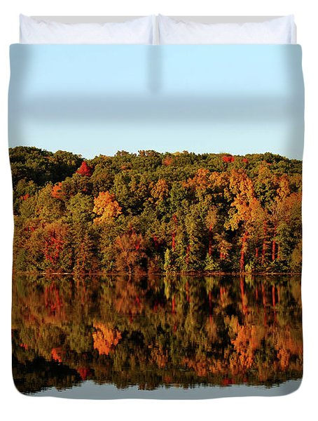 Duvet Cover featuring the photograph Autumn Mirror by Rachel Cohen