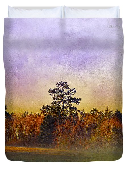 Autumn Morning Mist Duvet Cover by Judi Bagwell