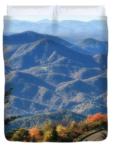 Autumn On The Blue Ridge Parkway Duvet Cover by Lynne Jenkins